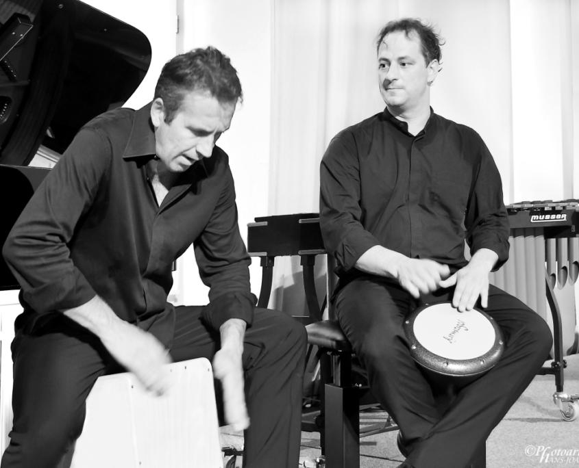 Klaus Schwaerzler, Benjamin Forster, Pianosalon Jazztage Dresden, Photo by H.J. Maquet